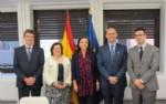 De izda a dcha: Alfonso Las Heras, María Luisa Castaño, Carmen Vela, Santiago de Andrés y Pablo Hervás.
